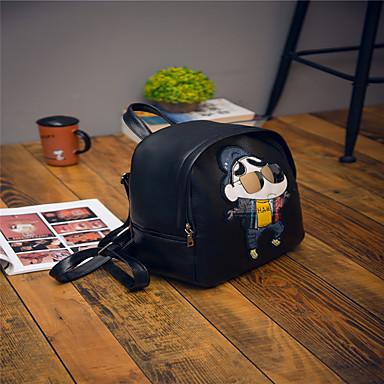 Dame Tasker PU rygsæk for Afslappet udendørs Alle årstider Sort