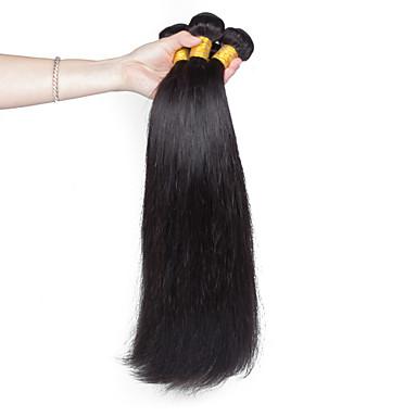 Human Hair vævninger Vietnamesisk hår Lige 18 Måneder 3 Dele hår vævninger