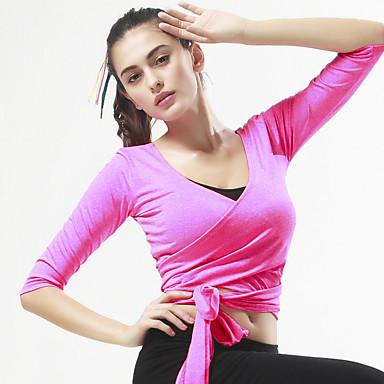 Sport®®Yoga Toppe Åndbart / Bekvem Strækkende Sport Wear Yoga & Danse Sko / Pilates / Træning & Fitness / Fornøjelse Sport / Løb Dame