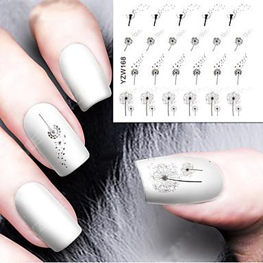 1 pcs Vandoverførings klistermærke Negle kunst Manicure Pedicure Blomst / Mode Daglig