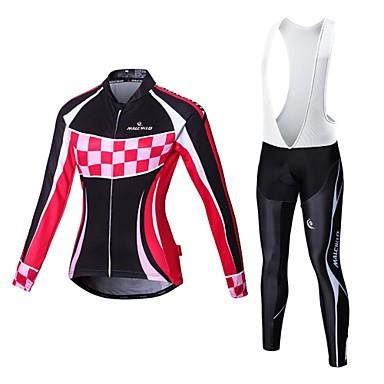 Malciklo Camisa com Calça Bretelle Mulheres Manga Longa Moto Meia-calça Roupas de Compressão Secagem Rápida Zíper Frontal Vestível Alta
