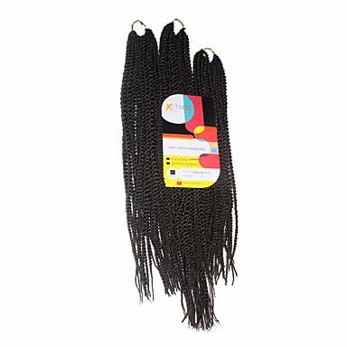 Cabello para trenzas Senegal Trenza de la torcedura / Extensiones Naturales 100% kanekalon pelo Las trenzas de pelo Diario