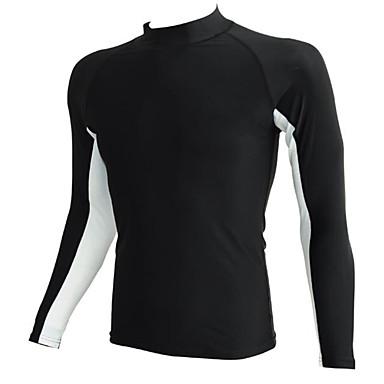 Sport Herre Badetøj Komprimering Bekvem Badetøj Overdele Indstillelig Indstillelig Sort Blå Sort Blå S M L