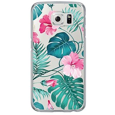 Capinha Para Samsung Galaxy Samsung Galaxy S7 Edge Ultra-Fina Translúcido Capa traseira Flor Macia TPU para S7 edge S7 S6 edge plus S6