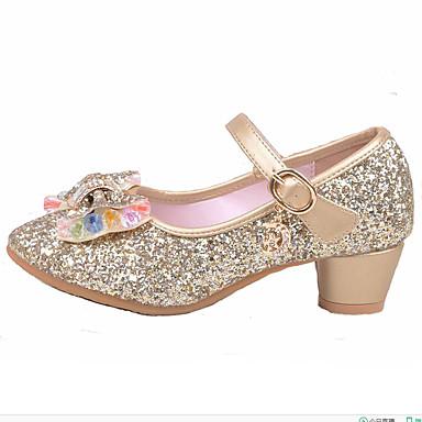 Meisjes Schoenen Synthetisch Lente Zomer Herfst Winter Comfortabel Platte schoenen Kristal Kralen Pailletten Imitatieparel Sprankelend