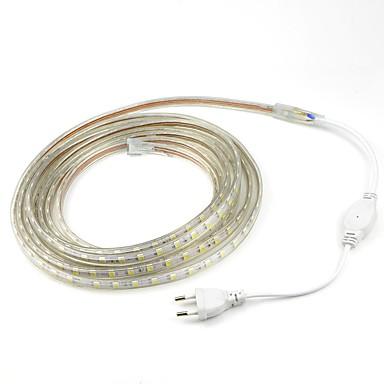 billige LED Strip Lamper-5 m 300 LED 5050 SMD Varm hvit / Hvit / Rød Kuttbar / Vanntett 220 V