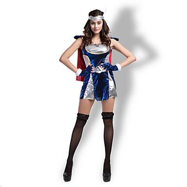 Cosplay Kostumer / Festkostume Super Helte / Oktoberfest / Vampyr / primitive Festival/Højtider Halloween Kostumer Blå FarveblokNederdel