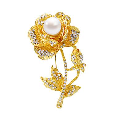 Dames Meisjes Broches Zilver Gouden Matzwart Gepersonaliseerde Modieus Sieraden Feest Dagelijks Kostuum juwelen