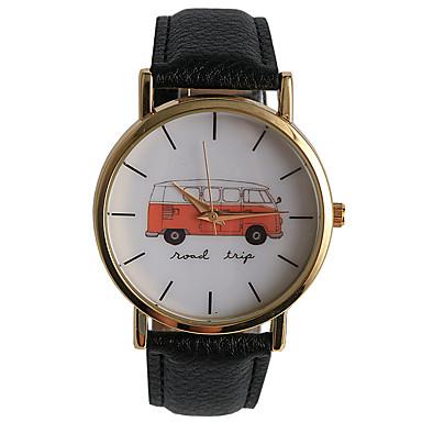 Mulheres Relógio de Moda Relógio Casual Quartzo / PU Banda Casual Preta