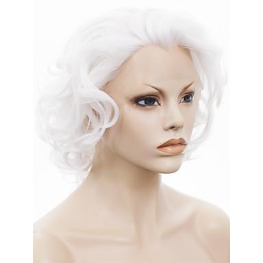 Kvinder Syntetiske parykker Blonde Front Krøllet Hvid Cosplay Paryk kostume Parykker