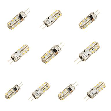 2 G4 LED-lamper med G-sokkel T 24 SMD 3014 150 lm Kold hvid Dekorativ AC 220-240 V 10 stk.