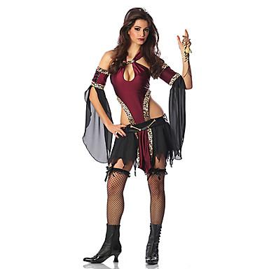 Vampyr Cosplay Kostumer Festkostume Dame Halloween Festival / Højtider Halloween Kostumer Rød Patchwork