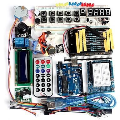 Funduino erweiterte Starter-Kit lcd Servomotor Punktmatrix-Steckbrett geführt Grundelement Pack kompatibel für Arduino