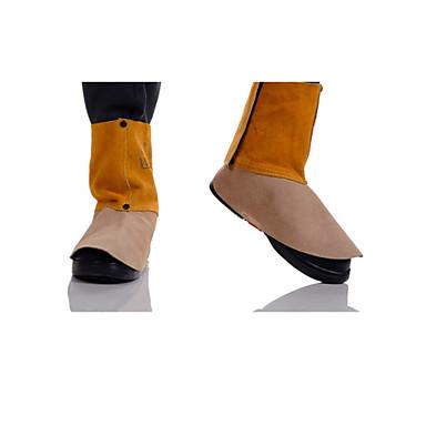 44-2106 marrom dourado de soldagem de couro 15 centímetros de comprimento capa de pé