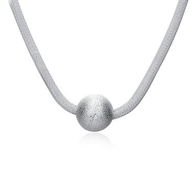 Damen Sterling Silber versilbert Anhängerketten - Modisch Weiß Modische Halsketten Für Alltag Normal