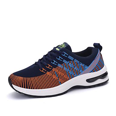 Herrn Schuhe Stoff Frühling Herbst Flache Schuhe Rennen für Normal Orange Grau Blau