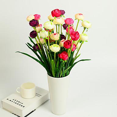 1 1 Tak Kunststof Camellia Bloemen voor op tafel Kunstbloemen 19.2inch/49cm