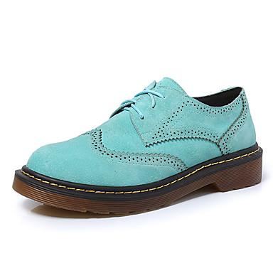 Oxfords-Kunstlæder-Komfort-Dame-Sort Blå Grå Marineblå-Fritid-Lav hæl