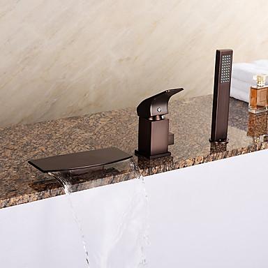 Badewannenarmaturen - Antike Art déco / Retro Modern Öl-riebe Bronze Romanische Wanne Keramisches Ventil