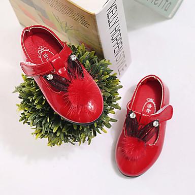 Para Meninas Sapatos Courino Outono Rasos Caminhada Gliter com Brilho para Pêssego / Vermelho / Rosa claro