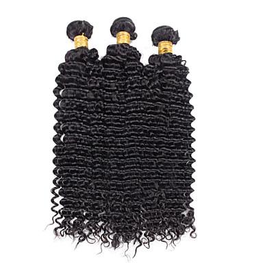 Brasiliansk hår Bølget Menneskehår Vævninger 3 Dele 0.1