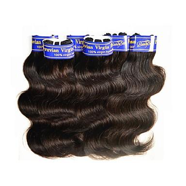 Peruviansk hår Krop Bølge Hårvever med menneskehår 1 Deler 2.0