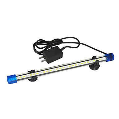 Fisk Akvarier Led Lys Hvit / Blå Holdbar LED-lampe V Plast
