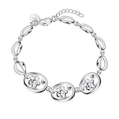 Dames Armbanden met ketting en sluiting Modieus Europees Sterling zilver Verzilverd Legering Bloemvorm Wit Sieraden VoorFeest Dagelijks
