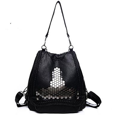 Dame Tasker PU rygsæk Nitte for Shopping Afslappet udendørs Alle årstider Sort