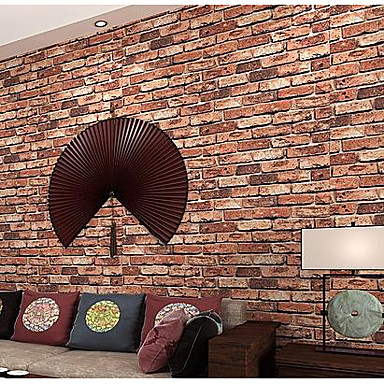 Tegel Steen Behang voor thuis Klassiek Behangen , Niet-geweven stof Materiaal lijm nodig behang , Kamer wandbekleding