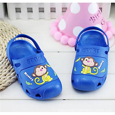 Unisex Baby Sandaler Komfort PVC Sommer Afslappet Komfort Dyremønster Flad hæl Mørkeblå Rosa Lys pink Marineblå Flad