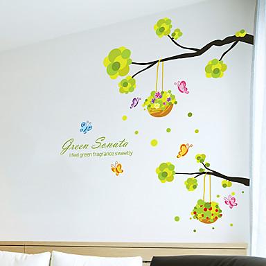 Animais / Botânico / Vida Imóvel Wall Stickers Autocolantes de Aviões para Parede Autocolantes de Parede Decorativos,PVC Material