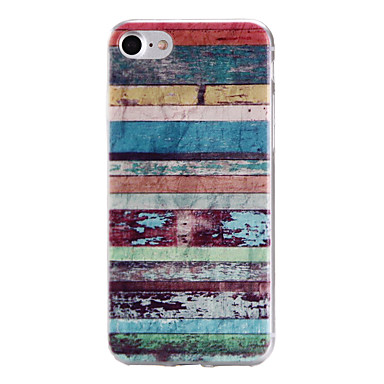 Capinha Para Apple iPhone 6 iPhone 7 Plus iPhone 7 Estampada Capa traseira Estampa Geométrica Macia TPU para iPhone 7 Plus iPhone 7