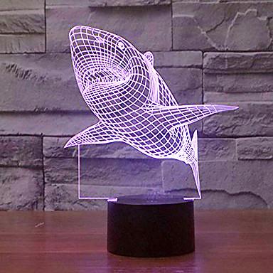 KWB 1 pièce Veilleuse 3D A détecteur Intensité Réglable