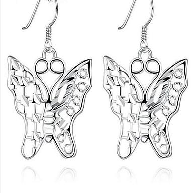 Damen Tropfen-Ohrringe Personalisiert Modisch Europäisch Sterling Silber versilbert Aleación Schleifenform Schmetterling Tier Schmuck