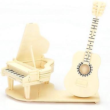 Jigsaw Puzzle 3D építőjátékok Fából készült építőjátékok Építőkockák DIY játékok Hangszerek Fa