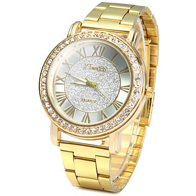 Hombre Reloj de Pulsera / Reloj de Cristal Pavé La imitación de diamante / / Acero Inoxidable Banda Vintage / Casual / Moda Dorado / Un año / SSUO LR626