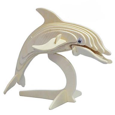 voordelige 3D-puzzels-Legpuzzels 3D-puzzels / Houten puzzels Bouw blokken DIY Toys Dolfijn Hout Goud Modelbouw & constructiespeelgoed