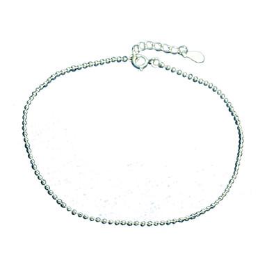 Damen Glasperlen Ketten- & Glieder-Armbänder / Manschetten-Armbänder - Sterling Silber Modisch Armbänder Silber Für Party / Alltag / Normal