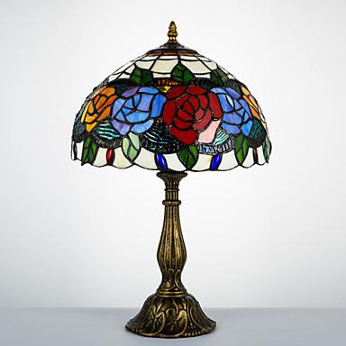 Tiffany / Traditionel / Klassisk Bue Skrivebordslampe Til Harpiks 110-120V / 220-240V
