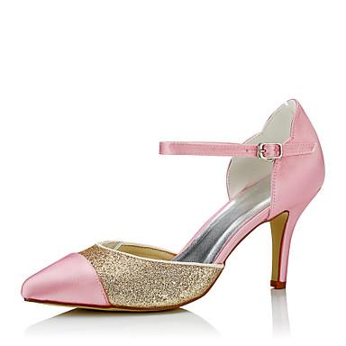 Hæle-Silke / GlitterDame-Rosa-Bryllup / Formelt / Fest/aften-Stilethæl