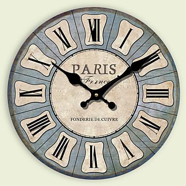 Moderno/Contemporâneo Outros Relógio de parede,Redonda Outros 30*30cm*3cm Interior Relógio