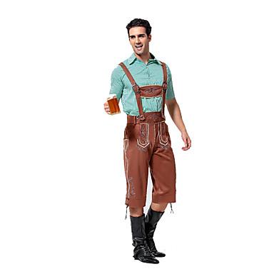 Cosplay Kostumer Festkostume Oktoberfest Tjener/Servitrice Festival/Højtider Halloween Kostumer Ensfarvet Top Bukser Mere Tilbehør