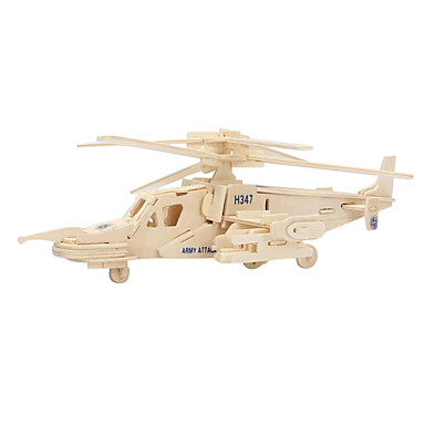 Puslespill 3D-puslespill Puslespill i tre Byggeklosser GDS-leker Helikopter Tre