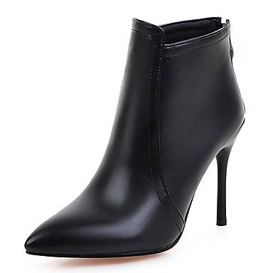 Damen Schuhe Kunstleder Herbst / Winter Stiefeletten / Modische Stiefel Stiefel Stöckelabsatz Reißverschluss für Büro & Karriere / Party