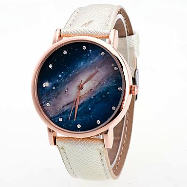 Dames Polshorloge Modieus horloge Kwarts Kleurrijk PU Band Vintage Regenboog Informeel Cool Zwart Wit Blauw roze