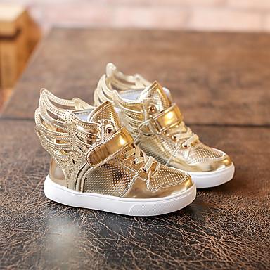 Sneakers-PUUnisex-Sølv Gylden-Fritid-Flad hæl