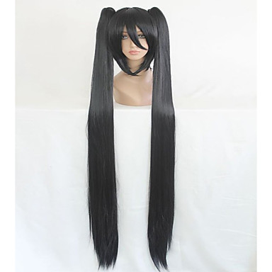 Syntetiske parykker / Kostymeparykker Rett Syntetisk hår Parykk med fletter / Afrikanske fletter Svart Parykk Dame Lokkløs Svart hairjoy