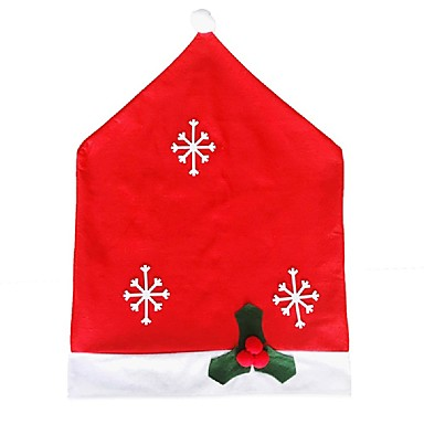 Hort de Santa cadeira chapéu de Papai cobre festa de natal jantar cadeira tabela tampa natal 50 * 65 centímetros cadeira de floco de neve