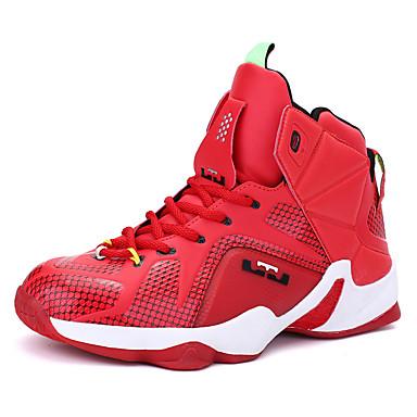 Hombre Cuero Primavera / Otoño Confort Zapatillas de Atletismo Baloncesto Antideslizante Plateado / Rojo / Negro / Rojo